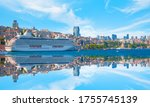 Luxury Cruise Ship In Bosporus...