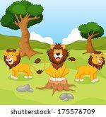 funny lion cartoon   Shutterstock .eps vector #175576709