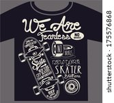 skateboard graphic design for t-shirt