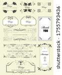 set of ornate vector frames and ... | Shutterstock .eps vector #1755793436