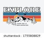 mountain illustration  outdoor... | Shutterstock .eps vector #1755808829