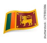 national flag of sri lanka | Shutterstock .eps vector #175581086