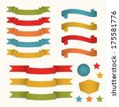 banners   Shutterstock .eps vector #175581776