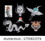 set of asian theme vector... | Shutterstock .eps vector #1755821576