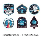 set of space badges  patches ... | Shutterstock .eps vector #1755823463