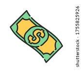 cash flow color line icon....