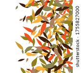 leaves. throw autumn leaves.... | Shutterstock .eps vector #1755827000