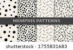 memphis style geometric... | Shutterstock .eps vector #1755831683