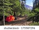 Backpacking  Camping With Tent...