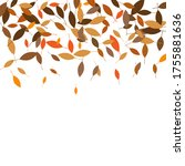 leaves. throw autumn leaves.... | Shutterstock .eps vector #1755881636