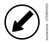 keep left sign  turn left... | Shutterstock .eps vector #1755894323