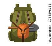 backpack vector icon.cartoon... | Shutterstock .eps vector #1755896156