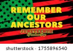 juneteenth freedom day. african ... | Shutterstock .eps vector #1755896540