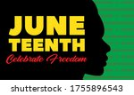 juneteenth freedom day. african ... | Shutterstock .eps vector #1755896543