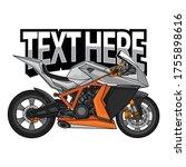 vector motorcycle racing logo ... | Shutterstock .eps vector #1755898616