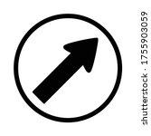 keep right sign  turn right... | Shutterstock .eps vector #1755903059