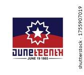 juneteenth vector flag... | Shutterstock .eps vector #1755907019