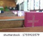 Red Prayer Songbook On Shelf In ...