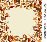 leaves. throw autumn leaves.... | Shutterstock .eps vector #1755952223