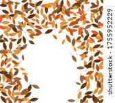 leaves. throw autumn leaves.... | Shutterstock .eps vector #1755952229