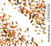 leaves. throw autumn leaves.... | Shutterstock .eps vector #1755952253