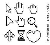 pixel cursors set  cursor arrow ...   Shutterstock .eps vector #1755977663