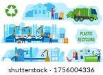 ecology  zero waste industry ... | Shutterstock .eps vector #1756004336
