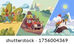people travel to nature  hiking ...   Shutterstock .eps vector #1756004369