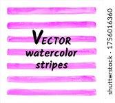 fuchsia pink watercolor vector... | Shutterstock .eps vector #1756016360