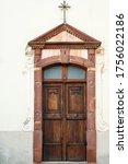 Wooden Door Of An Old Church....