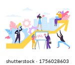 business company growth diagram ... | Shutterstock .eps vector #1756028603