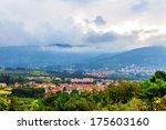 low clouds over the valley in... | Shutterstock . vector #175603160