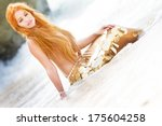 Mermaid On Sea Background