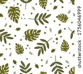 seamless pattern with green...   Shutterstock .eps vector #1756046999