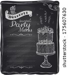 sweet party menu  chalkboard... | Shutterstock .eps vector #175607630