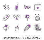 decorative pennants and... | Shutterstock .eps vector #1756100969