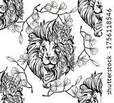 Lion Head Vector Illustration...