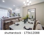 modern dining room in luxury... | Shutterstock . vector #175612088