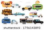food truck. street food caravan ... | Shutterstock .eps vector #1756143893