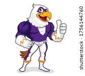 eagle superhero mascot cartoon...   Shutterstock .eps vector #1756144760