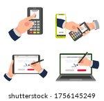 electronic signature  digital... | Shutterstock .eps vector #1756145249