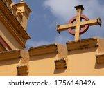 upper facade of the church of...