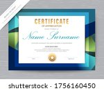 certificate of appreciation... | Shutterstock .eps vector #1756160450