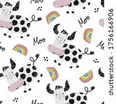 childish seamless pattern with... | Shutterstock .eps vector #1756166906