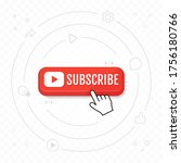 subscribe  call button and hand ... | Shutterstock .eps vector #1756180766