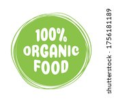 organic food product icon... | Shutterstock .eps vector #1756181189