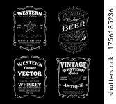 set of vintage western hand... | Shutterstock .eps vector #1756185236