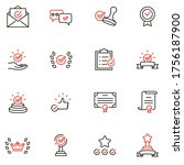 vector set of linear icons... | Shutterstock .eps vector #1756187900