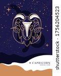 modern magic witchcraft card...   Shutterstock .eps vector #1756204523