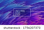 particles trail concentric... | Shutterstock .eps vector #1756207373
